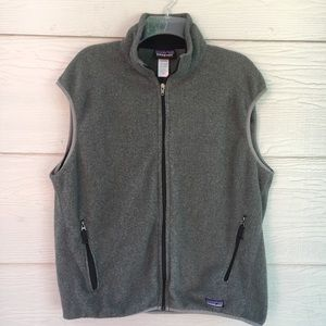 Patagonia Men's Synchilla Gray Zip Up Vest - L